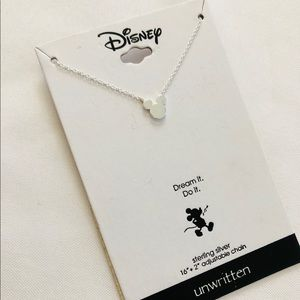 New Mickey Mouse Necklace Silver Tone!